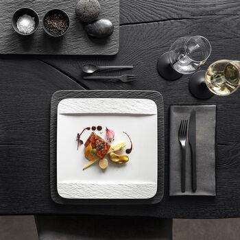 Manufacture Rock blanc Diner set, vierkante