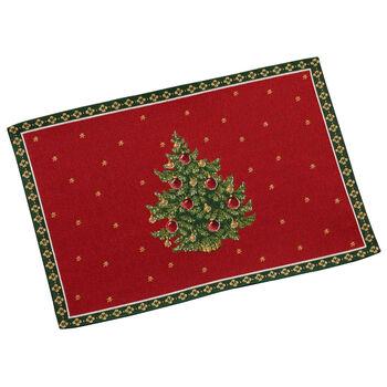 Toy's Delight Gobelin placemat boom, rood/gekleurd, 32 x 48 cm