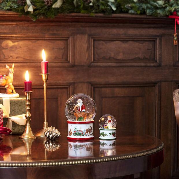 Christmas Toys grote sneeuwbol Kerstman en hert, 13 x 13 x 17 cm, , large