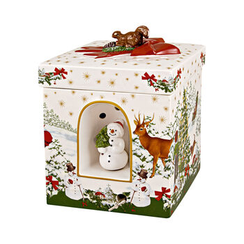 Christmas Toys grote hoekige cadeauverpakking kerstboom, 16 x 16 x 21,5 cm