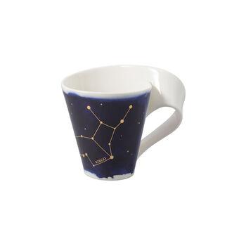 NewWave Stars beker Maagd, 300 ml, blauw/wit