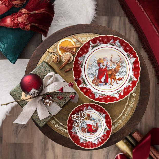 Toy's Fantasy grote schaal Kerstman met bosdieren, gekleurd/rood/wit, 25 x 25 x 5 cm, , large