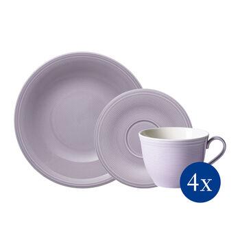 Color Loop Blueblossom koffie-set, blauw, 12-delig