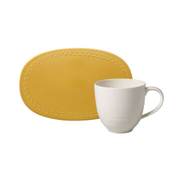 like.by Villeroy & Boch it's my moment Set, 2-delig, voor 1 persoon, honey