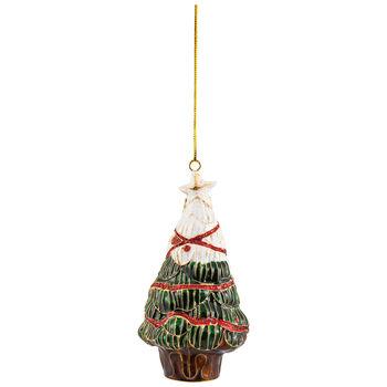 Winter Collage Accessoires metalen hanger kerstboom, gekleurd, 12 cm
