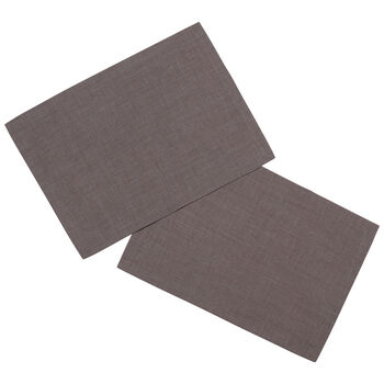 Textil Uni TREND Placemat, 2 stuks, grafit, 35x50cm