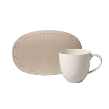 like.by Villeroy & Boch it's my moment Set, 2-delig, voor 1 persoon, almond