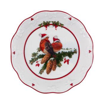 Toy's Fantasy kleine schaal vogels, gekleurd/rood/wit, 17 x 17 x 3 cm