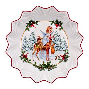 Toy's Fantasy grote schaal kerstkind, gekleurd/rood/wit, 24 x 24 x 4,5 cm