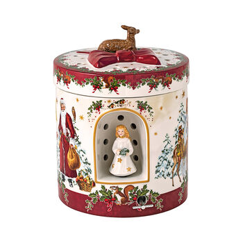 Christmas Toys grote ronde cadeauverpakking kerstkind, 17 x 17 x 21,5 cm