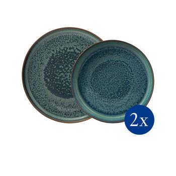 Crafted Breeze tafelset, grijsblauw, 4-delig