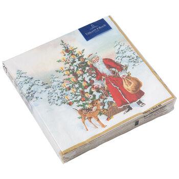 Winter Specials L-servet dennenboom, 20 stuks, 33x33cm