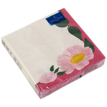 Papieren servetten Rose Sauvage Framboise, 20 stuks, 33x33cm