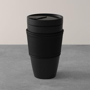 Manufacture Rock Coffee To Go beker, 350 ml, mat zwart