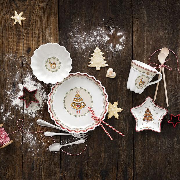 Winter Bakery Delight kleine sterschaal lebkuchen, rood/gekleurd, 13 cm, , large