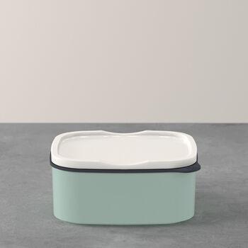 ToGo&ToStay lunchbox, 13x10x6cm, hoekig, mintgroen