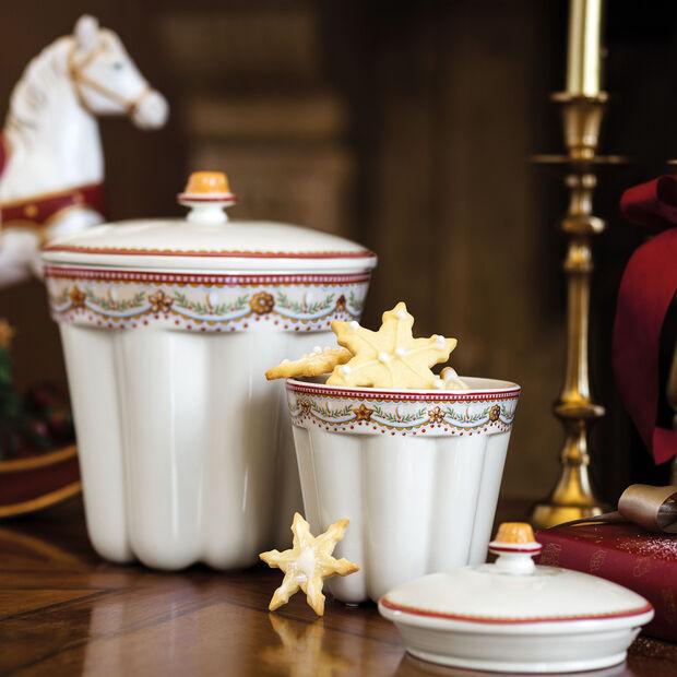 Winter Bakery Delight klein doosje tulband, rood/gekleurd, 13 x 13 x 16 cm, 720 ml, , large