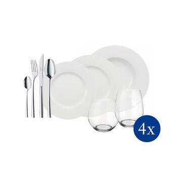 Wonderful World White 4 Friends 36-delige tafel-set
