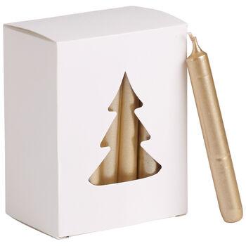 Essentials Candles Xmas candle gold Set 24 8x10,5x5,5cm