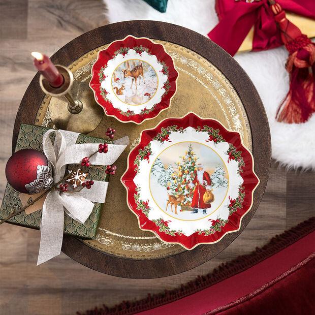 Toy's Fantasy grote schaal Kerstman met boom, gekleurd/rood/wit, 25 x 25 x 4 cm, , large