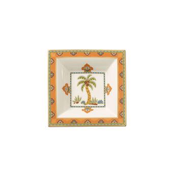 Samarkand Mandarin vierkante schaal 14x14cm