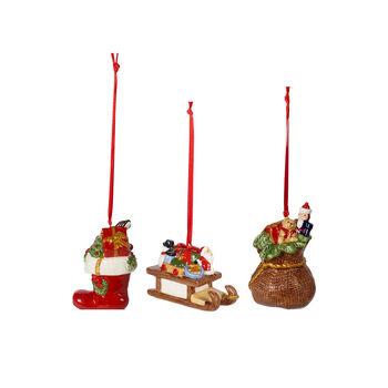 Nostalgic Ornaments ornamenten-set cadeaus, gekleurd, 3-delig, 6,3 cm
