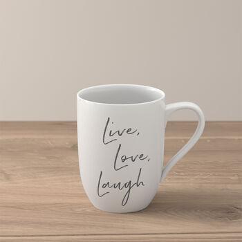 "Statement beker ""Live Love Laugh"""