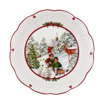 Toy's Fantasy grote schaal slederit, gekleurd/rood/wit, 24,5 x 24,5 x 4 cm