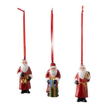 Nostalgic Ornaments ornamenten-set Kerstman/kerstkind/ree, 8 x 3,5 cm, 3-delig