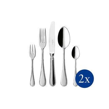 Kreuzband Septfontaines tafelbestek 30-dlg. 42x27x5cm