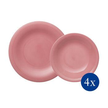 Color Loop Rose tafelset, roos, 8-delig