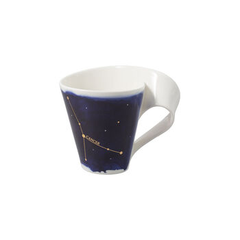 NewWave Stars beker Kreeft, 300 ml, blauw/wit