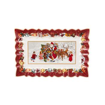 Toy's Fantasy Taartschaal hoekig, 35x23x3,5cm