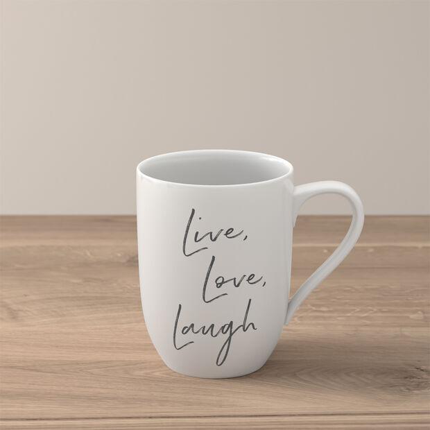 "Statement beker ""Live Love Laugh"", , large"