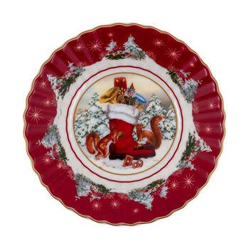 Toy's Fantasy kleine schaal laars, gekleurd/rood/wit, 16 x 16 x 3 cm