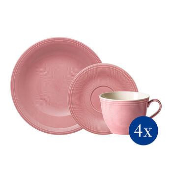 Color Loop Rose koffie-set, roos, 12-delig