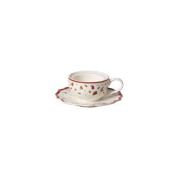 Toy's Delight Decoration theelichthouder koffiekop, wit/rood, 9,8 x 9,8 x 4 cm