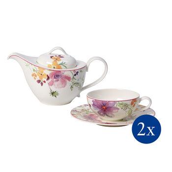 Mariefleur Tea Theeset, 5-delig, voor 2 personen