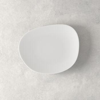 Organic White Ontbijtbord 21 x 17 x 2cm