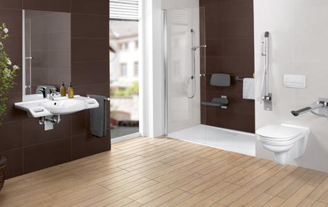 Inrichting Badkamer Vloer : Barrièrevrije badkamers inrichten met villeroy boch