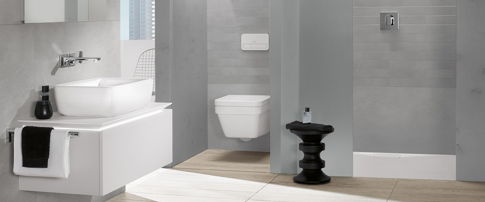 Geliefde Kleine badkamer met douche - Ruimteoplossingen - Villeroy & Boch &OU95