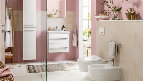 Kleine badkamer met douche ruimteoplossingen villeroy & boch