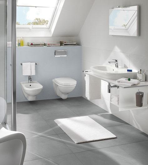 Muurverf In De Badkamer ~ Badkamer met schuin dakgedeelte slim gebruiken  Villeroy & Boch
