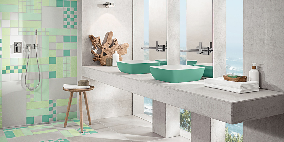 kleurinspiratie in de badkamer met villeroy & boch, Badkamer