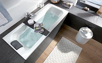 Ligbad Kleine Badkamer : Een badkuip plaatsen in een kleine badkamer villeroy boch