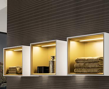 Design Wandverlichting Badkamer : Finion design en geraffineerde verlichting villeroy boch