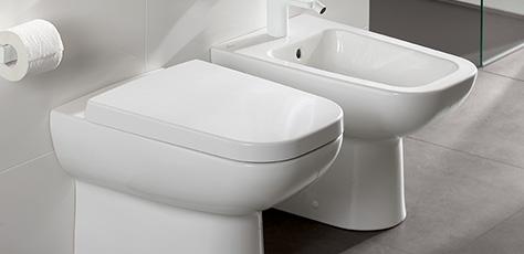 bidets van villeroy boch staande en wandhangende modellen. Black Bedroom Furniture Sets. Home Design Ideas