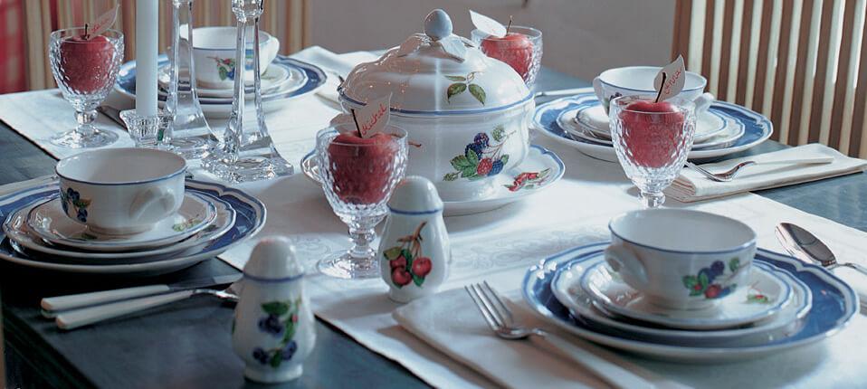 Villeroy En Boch Servies Outlet.Cottage Country Servies Met Kleurrijke Vruchten Villeroy Boch