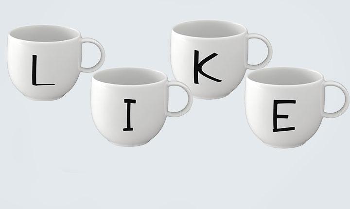 Letters Mugs